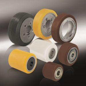 Колеса и ролики для гидравлических тележек, погрузчиков и другого подъемно-транспортного оборудования (23)