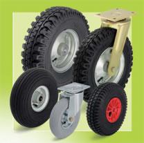 Разнообразие колес с пневматическими шинами