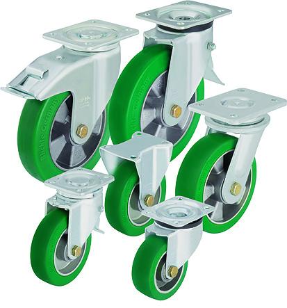 Поворотные колеса к тележкам