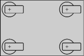 четыре поворотных ролика