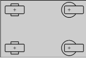 два поворотных и два фиксированных